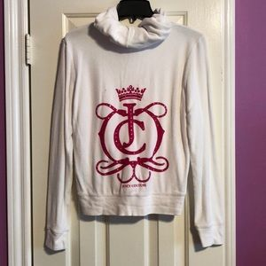 Juicy Couture White Terry ZipUp Jacket. Girls XL.
